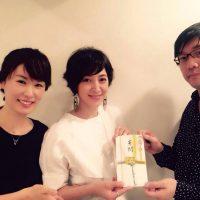 左からR Jewel Japanの星まり社長、滝川クリステルさん、青木事務局長